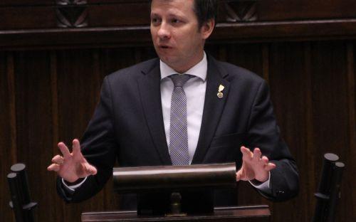Marek Michalak na mównicy Sejmu RP