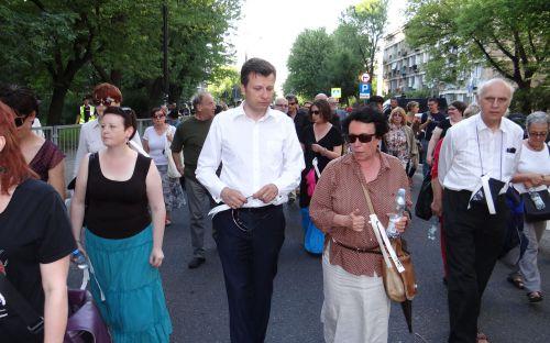 Marek Michalak podczas Marszu Pamięci
