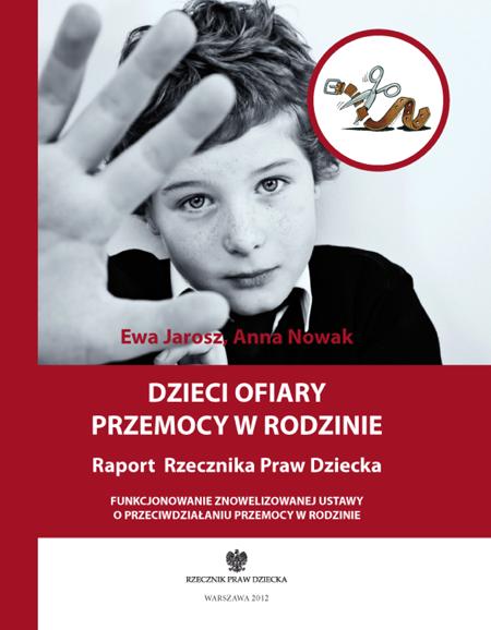 Okładka książki Dzieci ofiary przemocy w rodzinie. Raport Rzecznika Praw Dziecka. Link do pdfa z publikacją