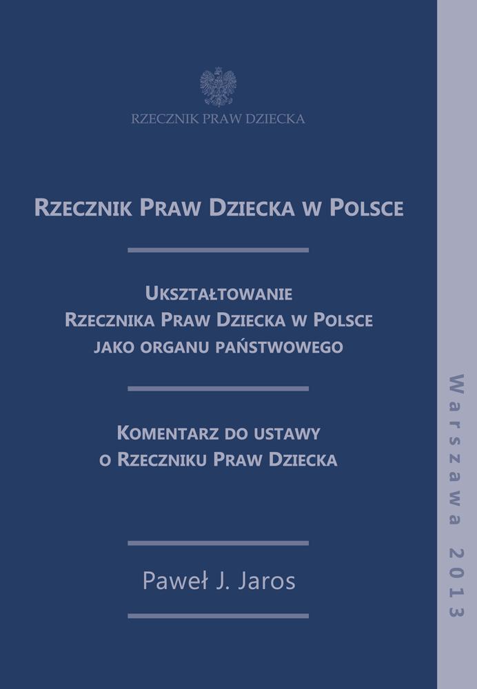 Okładka książki Rzecznik Praw Dziecka w Polsce. Link do pdfa z publikacją